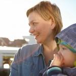 Frau Meinecke mit Kind