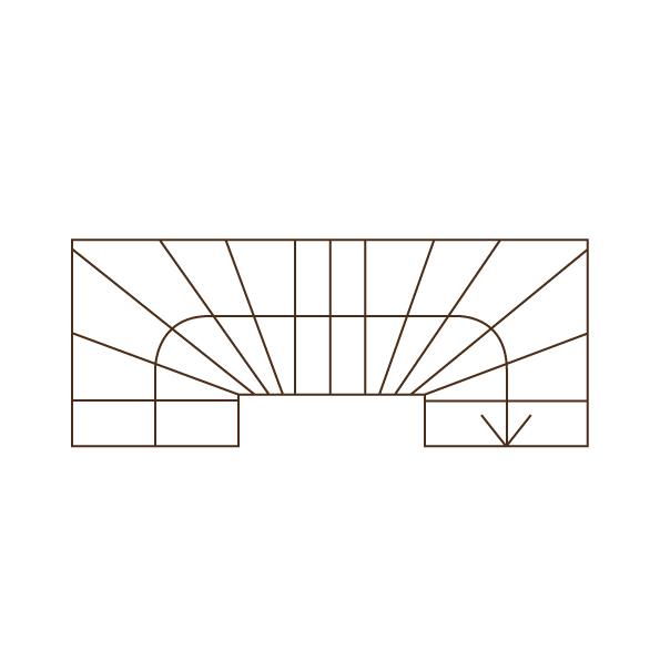Treppengrundriss 2x 1/4 gewendelt