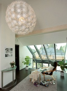 Galerie mit Dach aus Glas