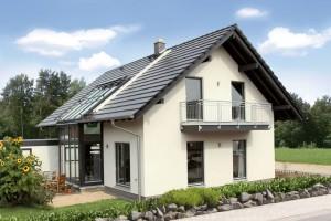 Außenansicht Einfamilienhaus von Familie Hofmann
