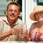 Eheleute Meyer auf der Terrasse