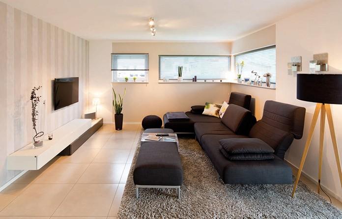 Das Wohnzimmer bietet sich als individueller Gestaltungsraum für die ganze Familie an.