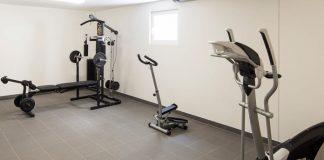 Ein Keller bietet willkommenen Platz für Trainingsgeräte