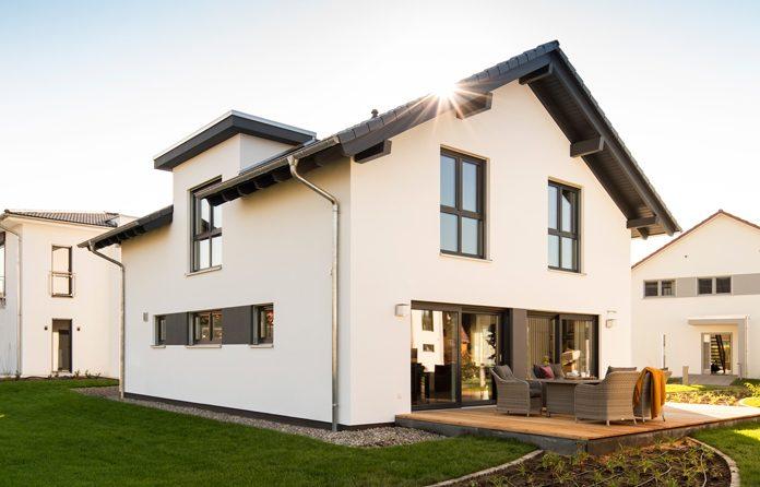 Vorbildlich wohngesundes Haus in Holz-Fertigbauweise.