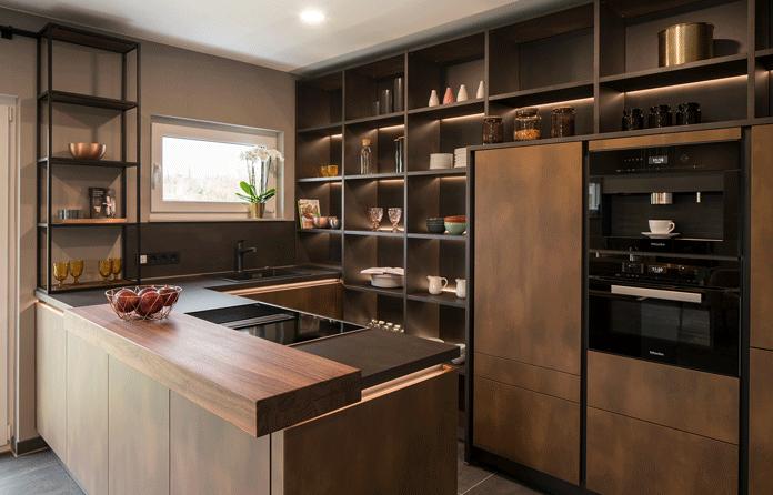 Passende Mülltrennsysteme sind in jeder modernen Lifestyle-Küche unabdingbar. (Foto.: FingerHaus)