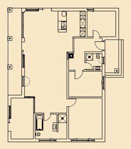 Sehr individueller Grundriss – Im offenen Wohnbereich sind nur Schlafzimmer und Bäder durch Türen getrennt. (Foto: FingerHaus)
